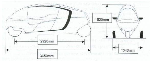 KabinenMotorrräder Technische Zeichung
